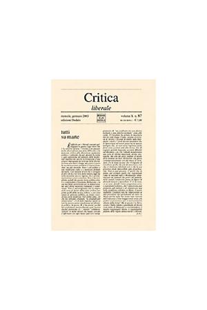 Critica Liberale 87/2003