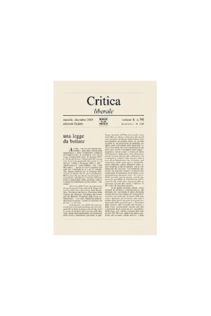 Critica Liberale 98/2003