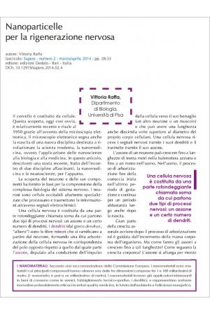 Nanoparticelle per la rigenerazione nervosa di Vittoria Raffa
