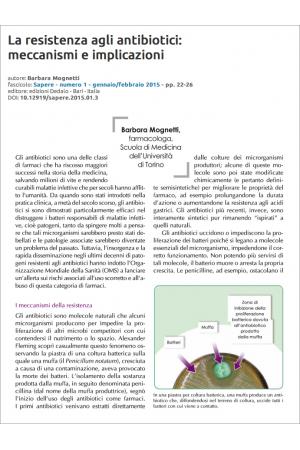 La resistenza agli antibiotici: meccanismi e implicazioni di Barbara Mognetti