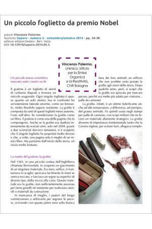 Un piccolo foglietto da premio Nobel di Vincenzo Palermo