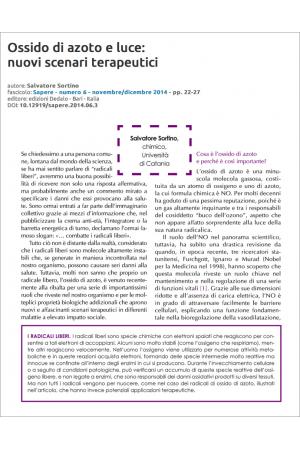 Ossido di azoto e luce: nuovi scenari terapeutici di Salvatore Sortino