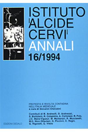 Annali Istituto Cervi 16, 1994