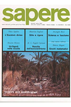 Sapere 4/1984