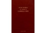 Studi storici in onore di Gabriele Pepe