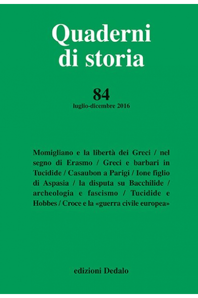 Quaderni di storia 84/2016