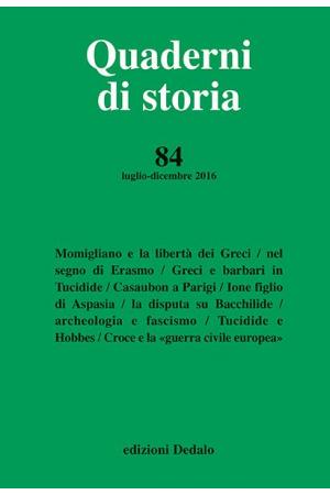 Quaderni di storia 84/2016 PDF