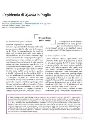 L'epidemia di Xylella in Puglia