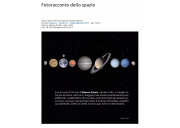 Fotoracconto dello spazio