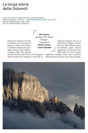 La lunga storia delle Dolomiti