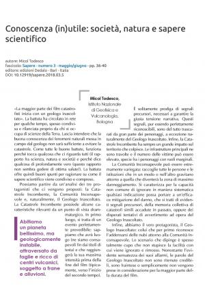 Conoscenza (in)utile: società, natura e sapere scientifico