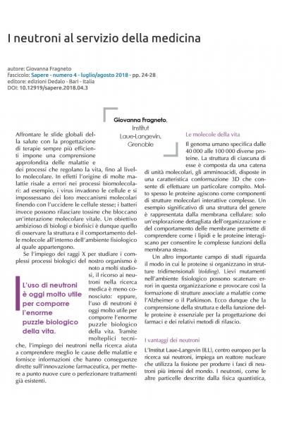 I neutroni al servizio della medicina