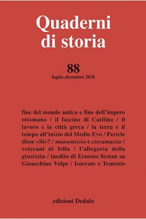 Quaderni di storia 88/2018
