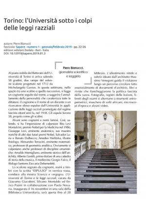 Torino: L'Università sotto i colpi delle leggi razziali