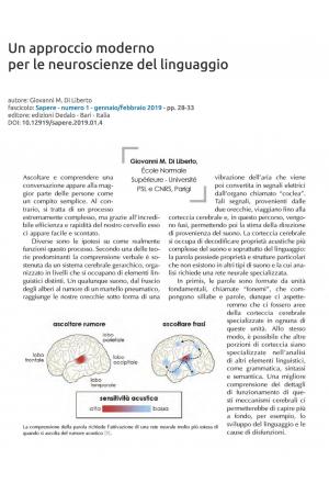 Un approccio moderno per le neuroscienze del linguaggio
