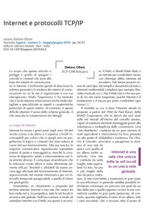 Internet e protocolli TCP/IP