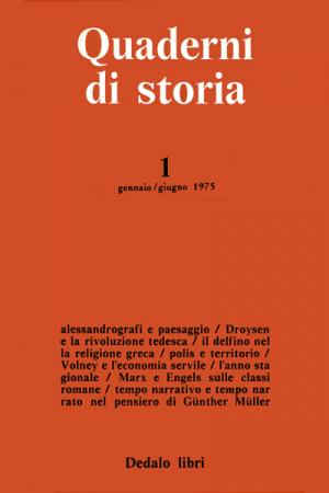 Quaderni di storia 1/1975
