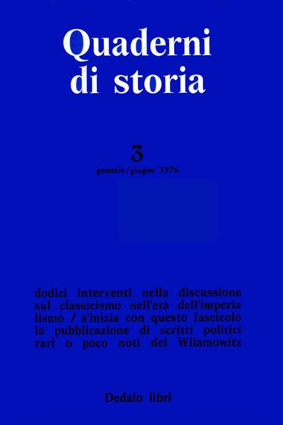 Quaderni di storia 3/1976
