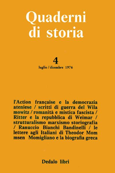 Quaderni di storia 4/1976