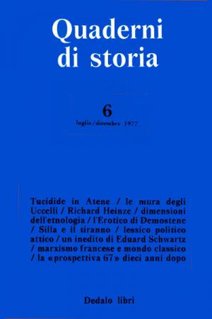 Quaderni di storia 6/1977