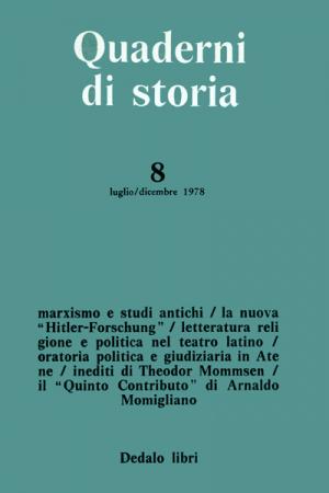 Quaderni di storia 8/1978