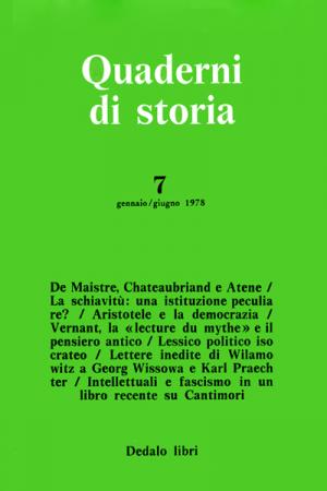 Quaderni di storia 7/1978