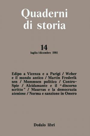 Quaderni di storia 14/1981