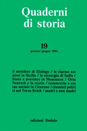Quaderni di storia 19/1984
