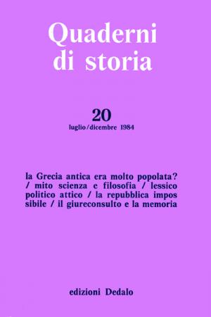 Quaderni di storia 20/1984