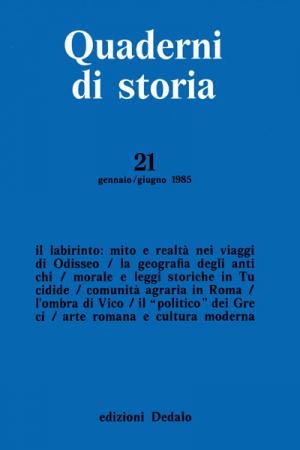 Quaderni di storia 21/1985