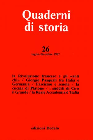 Quaderni di storia 26/1987