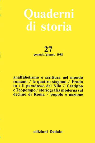 Quaderni di storia 27/1988