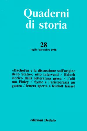 Quaderni di storia 28/1988