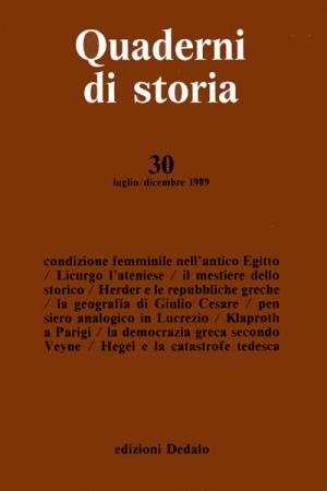 Quaderni di storia 30/1989