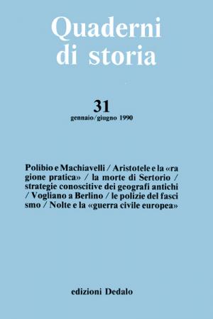 Quaderni di storia 31/1990