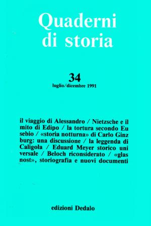 Quaderni di storia 34/1991