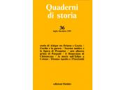 Quaderni di storia 36/1992