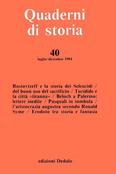 Quaderni di storia 40/1994