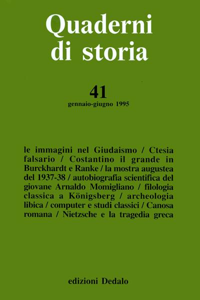 Quaderni di storia 41/1995