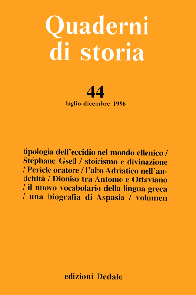 Quaderni di storia 44/1996