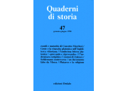 Quaderni di storia 47/1998