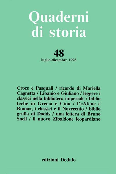 Quaderni di storia 48/1998