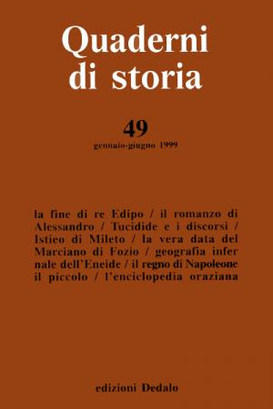 Quaderni di storia 49/1999