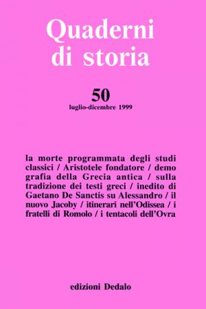 Quaderni di storia 50/1999