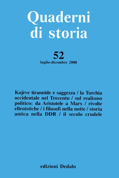 Quaderni di storia 52/2000