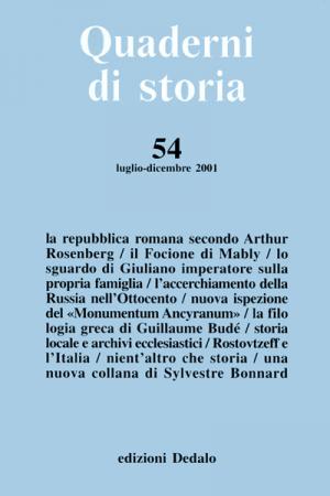 Quaderni di storia 54/2001