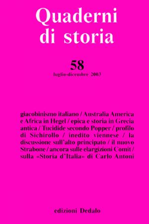 Quaderni di storia 58/2003