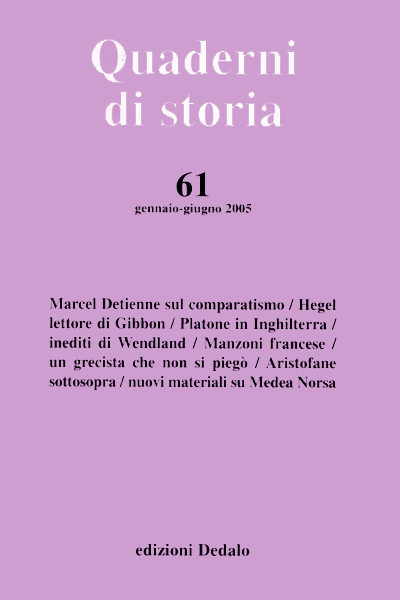 Quaderni di storia 61/2005