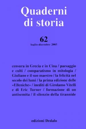 Quaderni di storia 62/2005