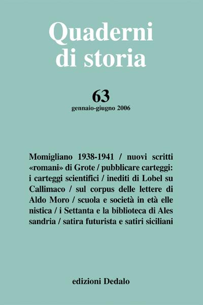 Quaderni di storia 63/2006